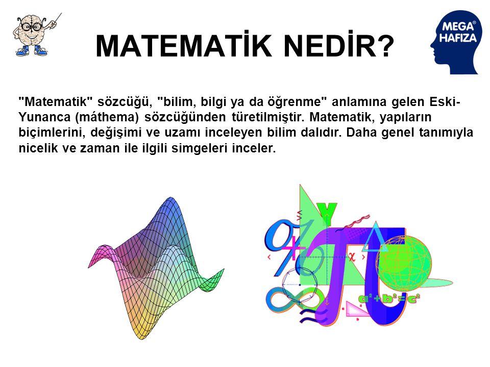 NEDEN MATEMATİK? Matematik soyut kavramlar ile inşa edilen düzenli ve kesin biçimi ile alışkın olduğumuz günlük düşünce esasına dayanır. Bize yabancı