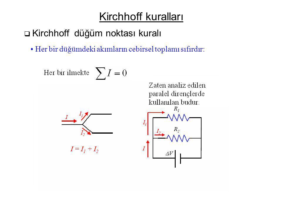 Elektriksel ölçüm cihazları  Ampermetre