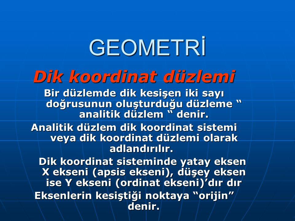 S.9 Dik koordinat sisteminde d doğrusunun denklemi nedir .