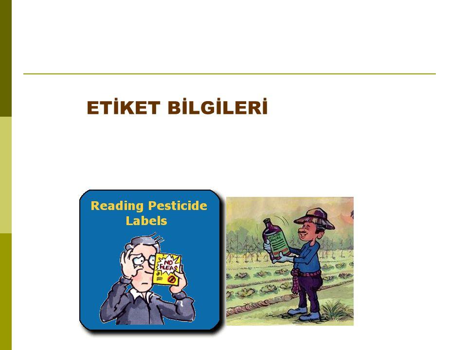 A)Tanıtma Bilgileri ve Esasları • İlacın ticari adı : İlacın ticari adının altında insektisit, Fungisit, Herbisit, vb.