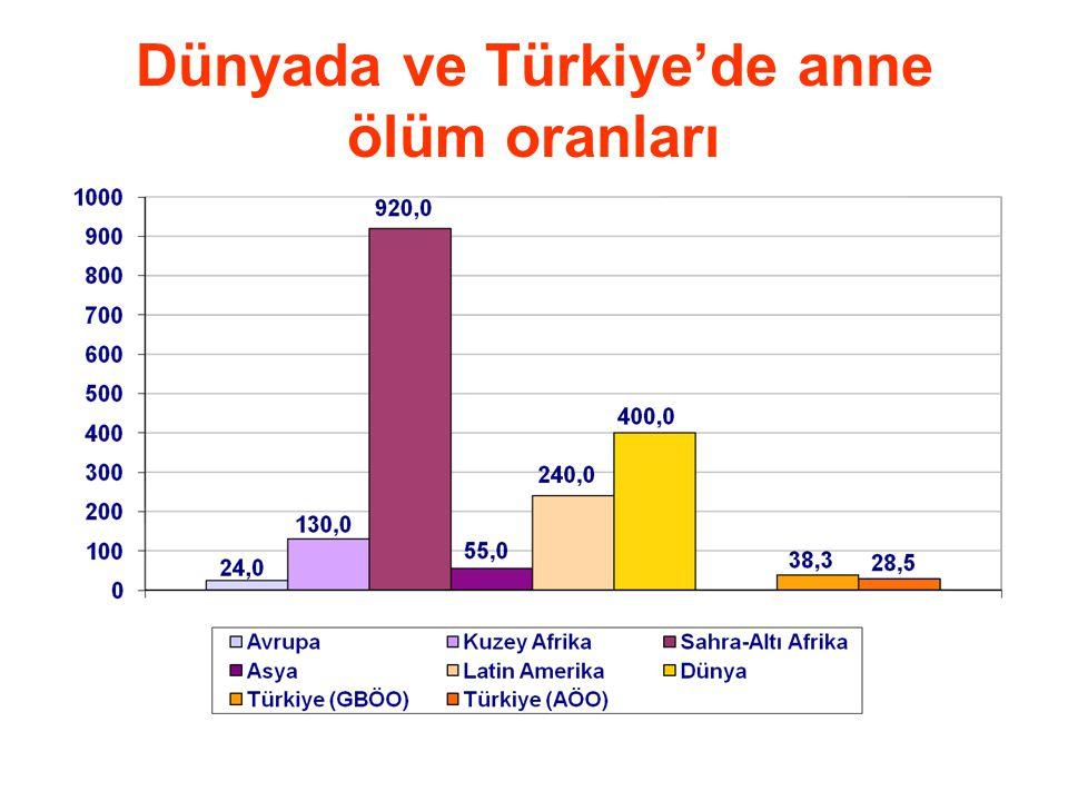 Dünyada ve Türkiye'de anne ölüm oranları