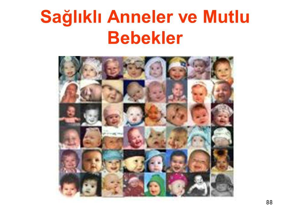 88 Sağlıklı Anneler ve Mutlu Bebekler