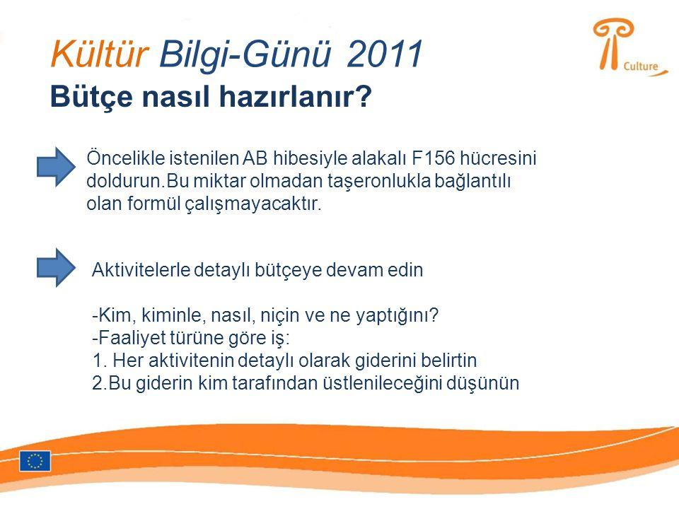 Kültür Bilgi-Günü 2011 Bütçe nasıl hazırlanır.