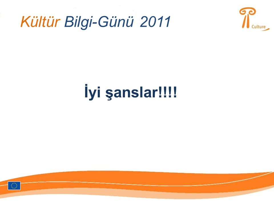 Kültür Bilgi-Günü 2011 İyi şanslar!!!!
