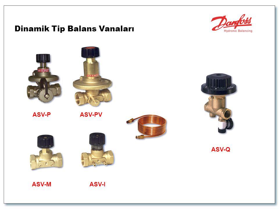 Dinamik Tip Balans Vanaları ASV-PASV-PV ASV-MASV-I ASV-Q