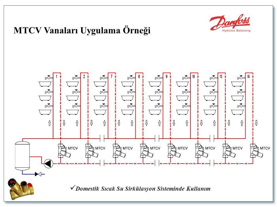  Domestik Sıcak Su Sirkülasyon Sisteminde Kullanım MTCV Vanaları Uygulama Örneği