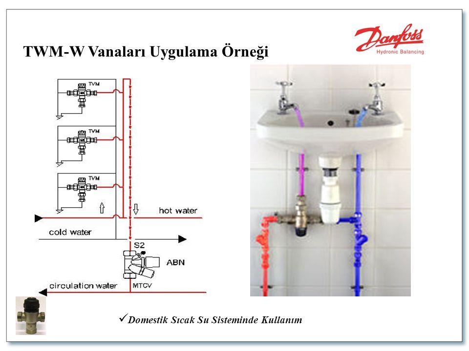  Domestik Sıcak Su Sisteminde Kullanım TWM-W Vanaları Uygulama Örneği