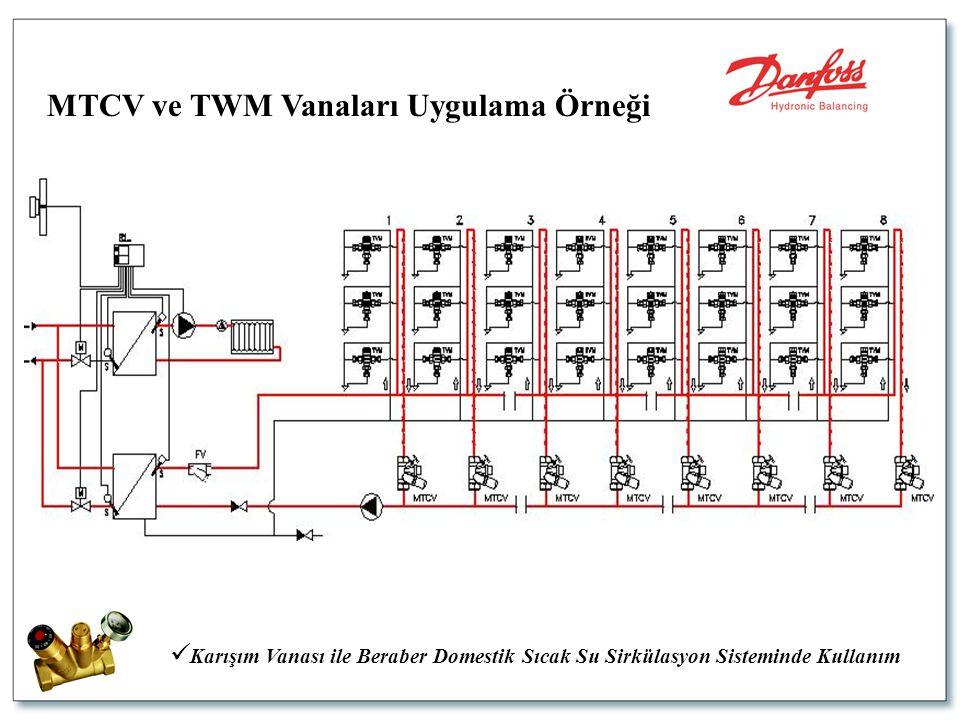  Karışım Vanası ile Beraber Domestik Sıcak Su Sirkülasyon Sisteminde Kullanım MTCV ve TWM Vanaları Uygulama Örneği