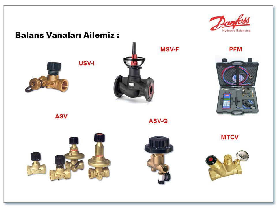 Balans Vanaları Ailemiz : USV-I MTCV ASV-Q ASV PFMMSV-F