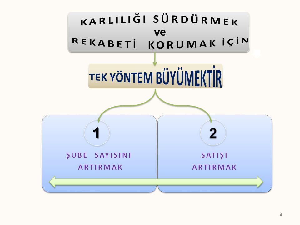 ŞUBE SAYISINI ARTIRMAK SATIŞI ARTIRMAK 1 4