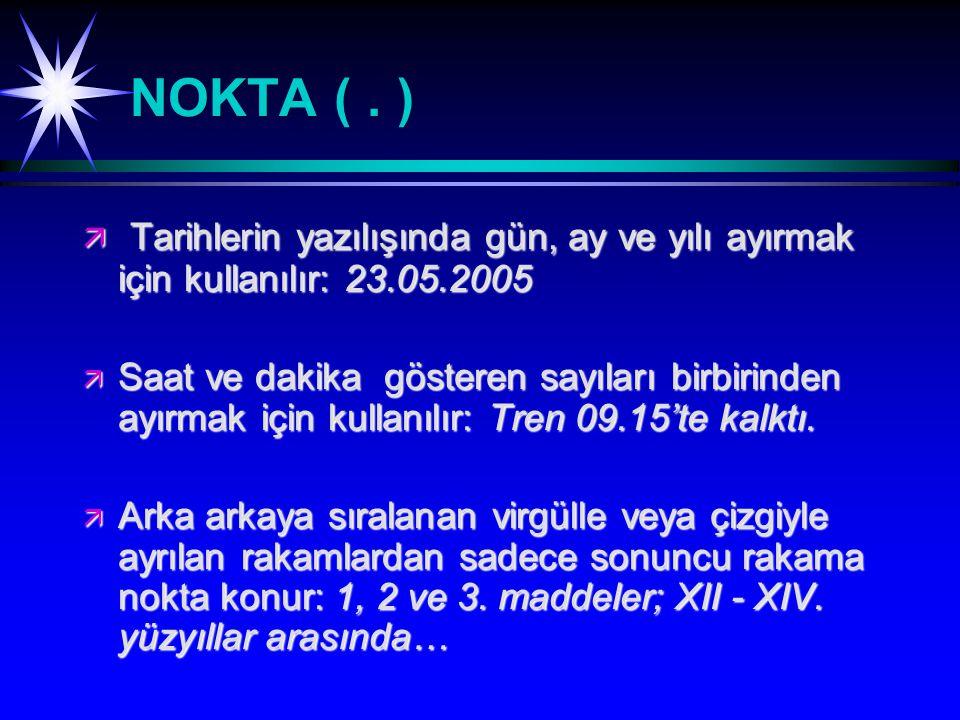 NOKTA (.