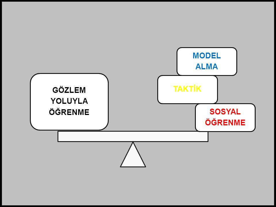 SOSYAL ÖĞRENME TAKTİK MODEL ALMA GÖZLEM YOLUYLA ÖĞRENME
