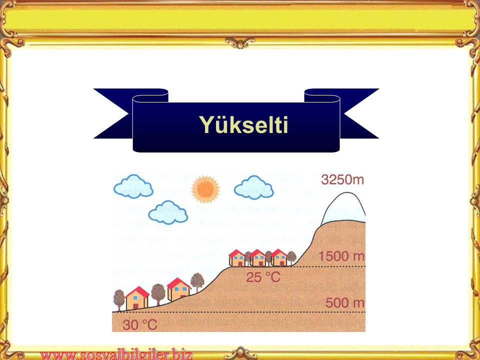 Örnek Soru : Rüzgârlar, geldikleri yönlere göre hava sıcaklığını düşürücü ya da yükseltici bir etki yapar. Buna göre yukarıdaki şekilde ok yönünde est