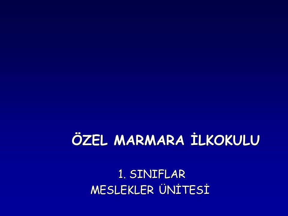 ÖZEL MARMARA İLKOKULU ÖZEL MARMARA İLKOKULU 1. SINIFLAR 1. SINIFLAR MESLEKLER ÜNİTESİ MESLEKLER ÜNİTESİ
