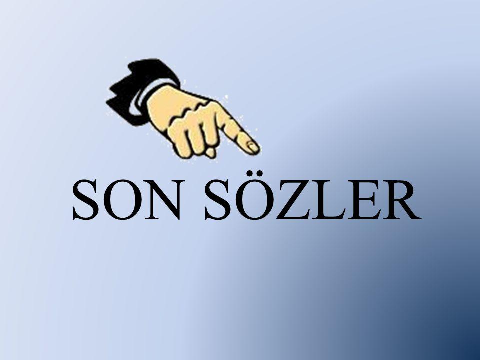 SON SÖZLER