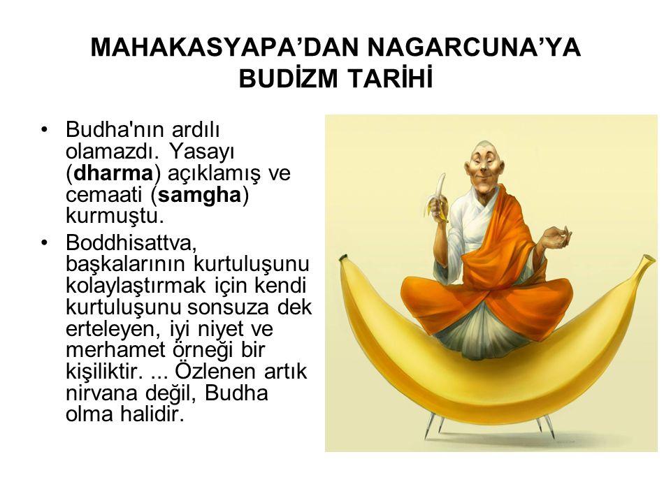 MAHAKASYAPA'DAN NAGARCUNA'YA BUDİZM TARİHİ •Budha'nın ardılı olamazdı. Yasayı (dharma) açıklamış ve cemaati (samgha) kurmuştu. •Boddhisattva, başkalar