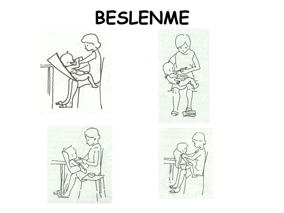 TUVALET •Lazımlık sandalye üzerine yerleştirilmeli ve çocuğun sırtı anne tarafından desteklenmelidir.