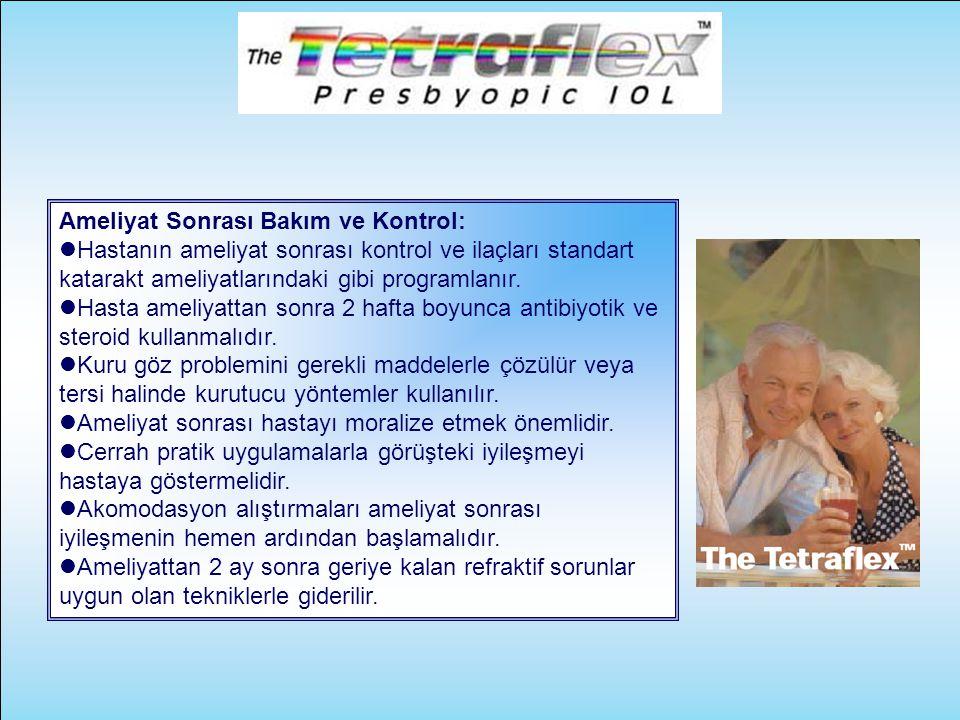 Ameliyat Sonrası Bakım ve Kontrol:  Hastanın ameliyat sonrası kontrol ve ilaçları standart katarakt ameliyatlarındaki gibi programlanır.  Hasta amel