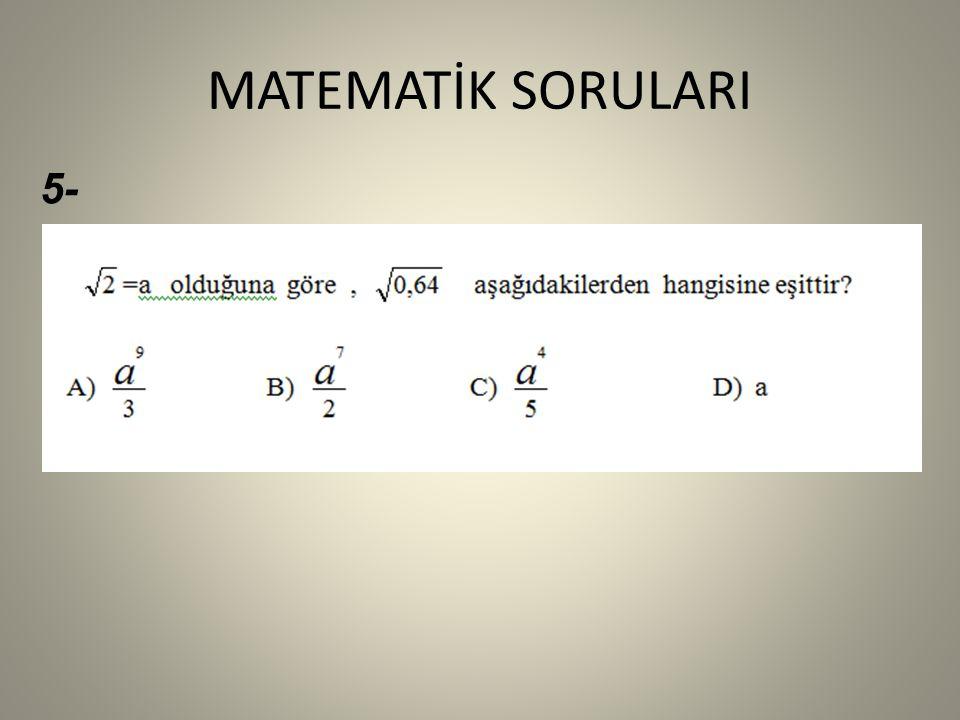 MATEMATİK SORULARI 5-