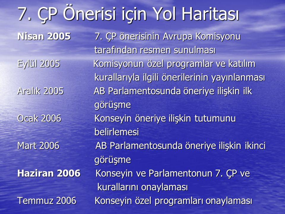 7.ÇP Önerisi için Yol Haritası Nisan 2005 7.