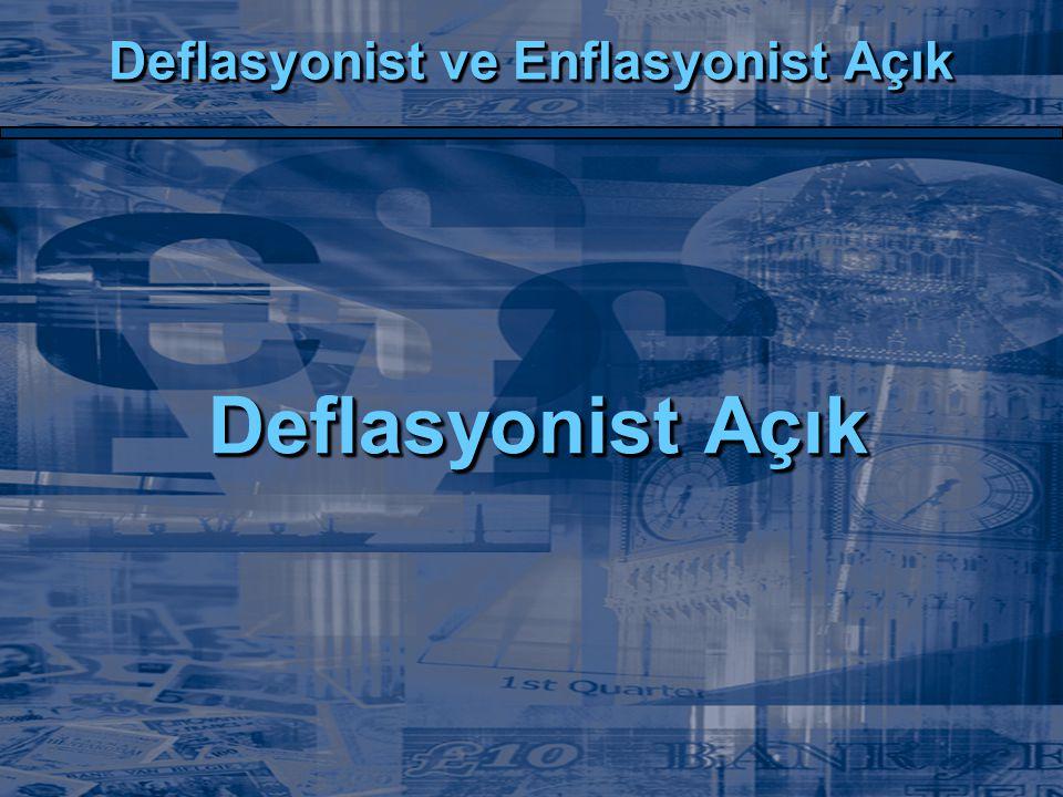 Deflasyonist ve Enflasyonist Açık Deflasyonist Açık