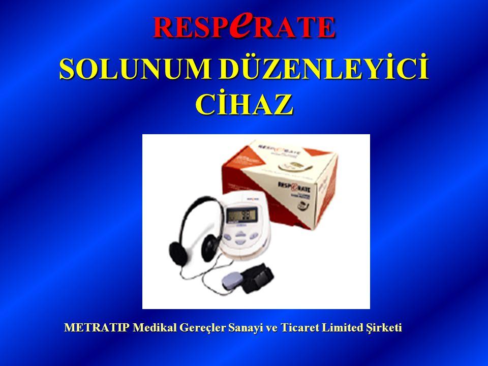 RESP e RATE SOLUNUM DÜZENLEYİCİ CİHAZ METRATIP Medikal Gereçler Sanayi ve Ticaret Limited Şirketi METRATIP Medikal Gereçler Sanayi ve Ticaret Limited Şirketi