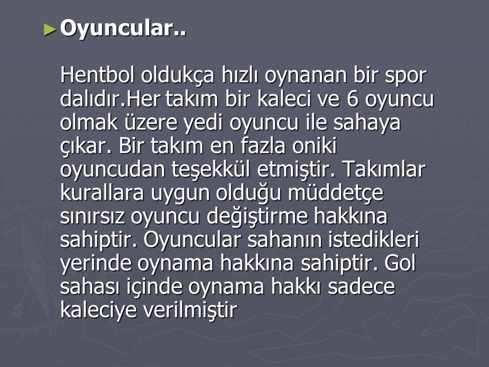 ► Oyuncular..