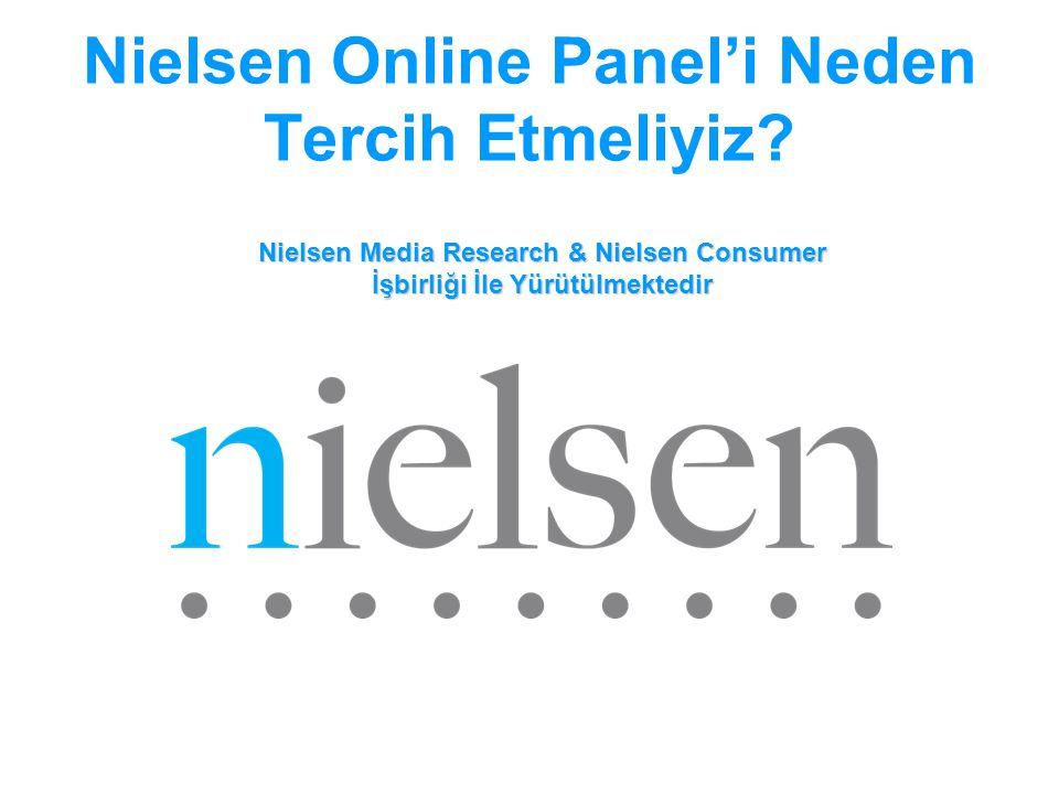 Nielsen Online Panel'i Neden Tercih Etmeliyiz? Nielsen Media Research & Nielsen Consumer İşbirliği İle Yürütülmektedir