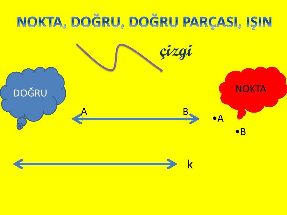 AB DOĞRU NOKTA çizgi k •A •B