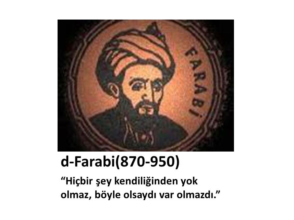 • İslam felsefesinin kurucusudur.Akıl ile imanı, felsefeyle dini uzlaştırmaya çalışmıştır.