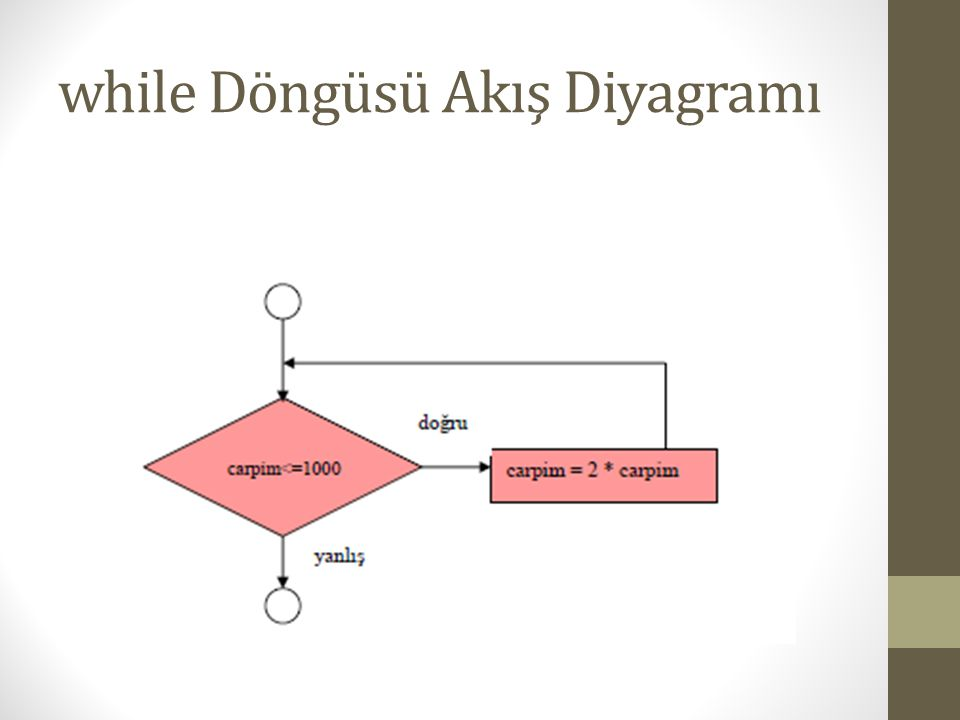 while Döngüsü Akış Diyagramı