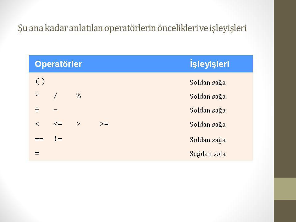 while Döngüsü • Döngü yapısı  Programcıya bir koşul doğru olduğu sürece bir işlemi tekrarlatma imkanı sağlar.
