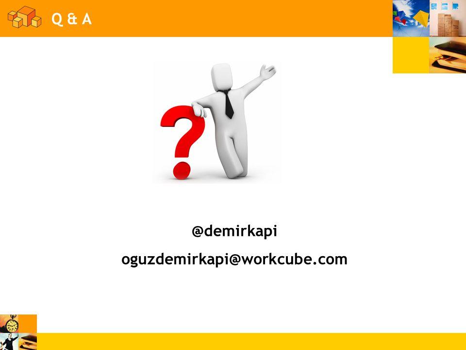 Q & A @demirkapi oguzdemirkapi@workcube.com