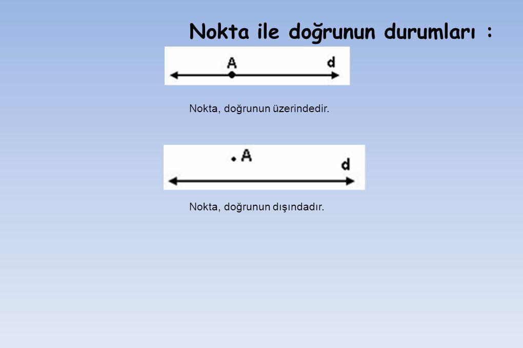 Not: Herhangi üçü doğrusal olmayan n noktadan C(n,2) kadar doğru geçer.