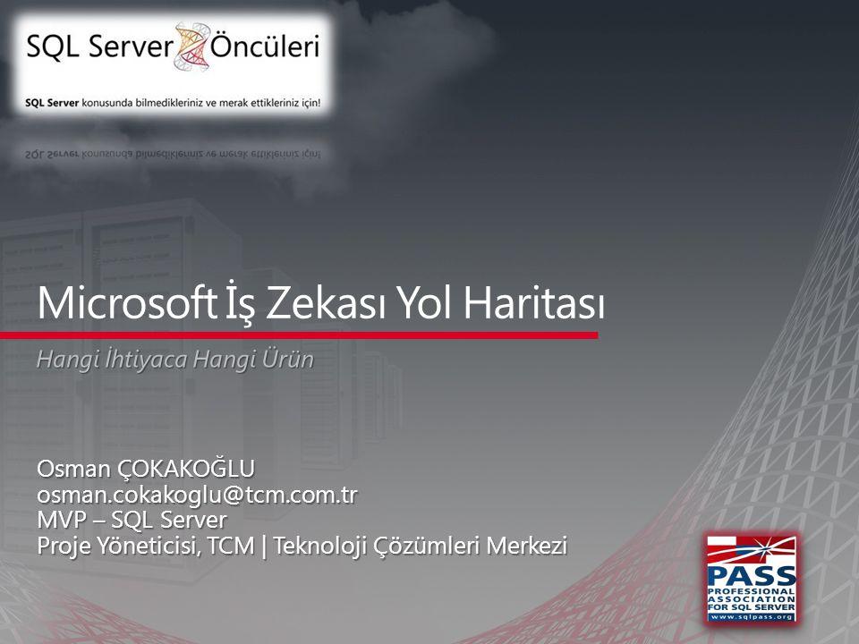 Osman ÇOKAKOĞLU osman.cokakoglu@tcm.com.tr MVP – SQL Server Proje Yöneticisi, TCM | Teknoloji Çözümleri Merkezi