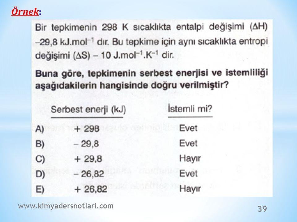 39 Örnek: www.kimyadersnotlari.com