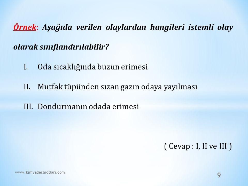40 Örnek: www.kimyadersnotlari.com