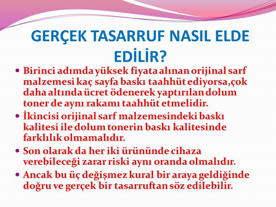 GERÇEK TASARRUF NASIL ELDE EDİLİR.