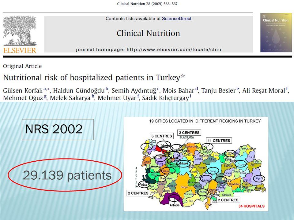 29.139 patients NRS 2002
