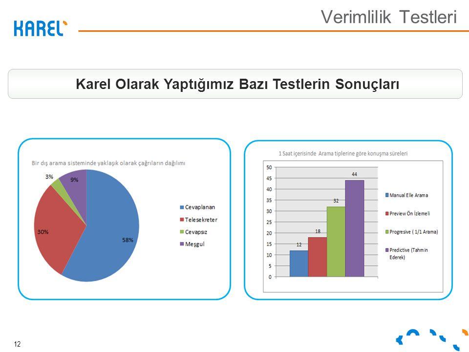 12 Verimlilik Testleri Karel Olarak Yaptığımız Bazı Testlerin Sonuçları