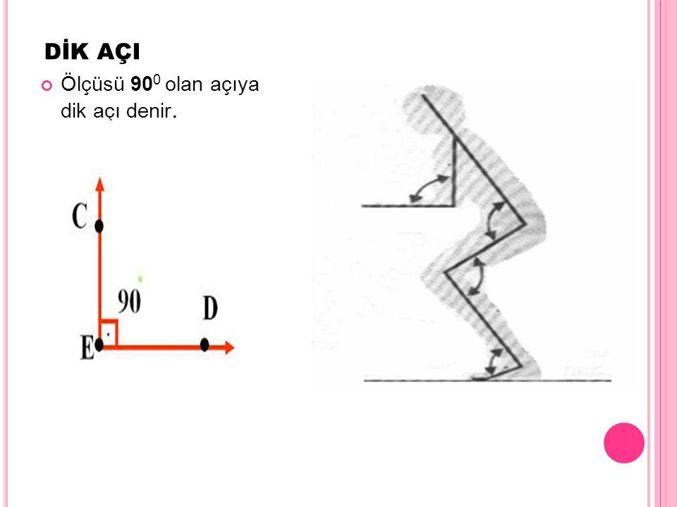 GENİŞ AÇI Ölçüsü 90 ile 180 arasında olan açıya, geniş açı denir. BÂC açısı geniş açıdır.