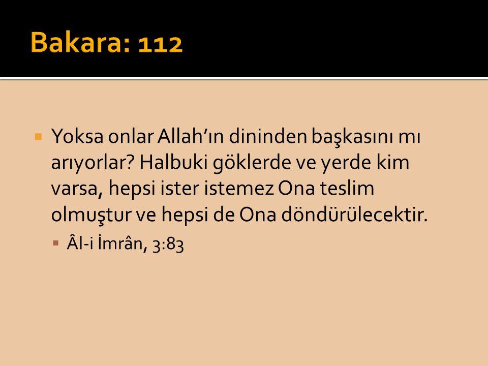  Yoksa onlar Allah'ın dininden başkasını mı arıyorlar? Halbuki göklerde ve yerde kim varsa, hepsi ister istemez Ona teslim olmuştur ve hepsi de Ona d