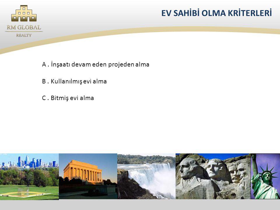 EV SAHİBİ OLMA KRİTERLERİ A.İnşaatı devam eden projeden alma B.