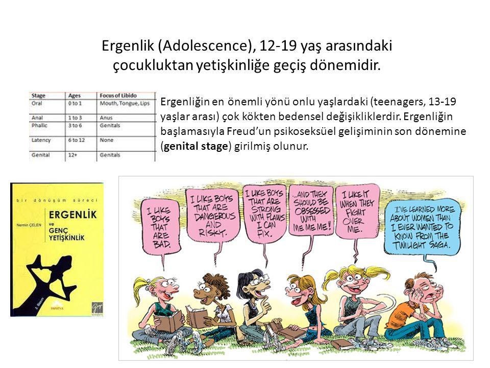 Ergenlik (Adolescence), 12-19 yaş arasındaki çocukluktan yetişkinliğe geçiş dönemidir. Ergenliğin en önemli yönü onlu yaşlardaki (teenagers, 13-19 yaş