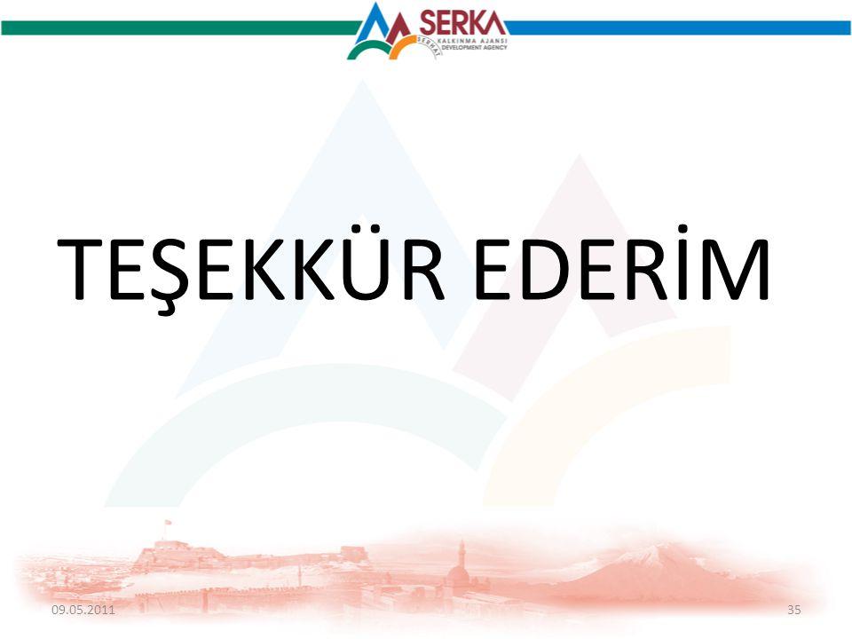 TEŞEKKÜR EDERİM 09.05.201135