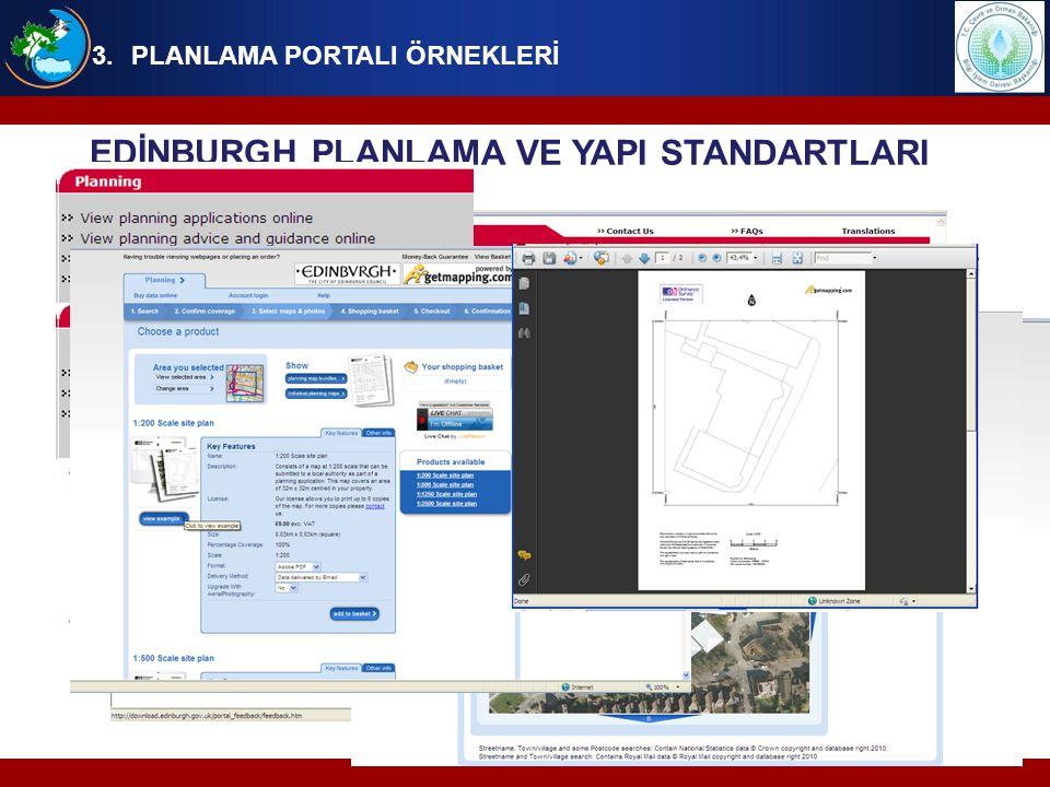 EDİNBURGH PLANLAMA VE YAPI STANDARTLARI PORTALI PORTALDA SUNULAN HİZMETLER,  Plan tadilatlarının ve yapı izinlerinin online başvuruları, başvuruların