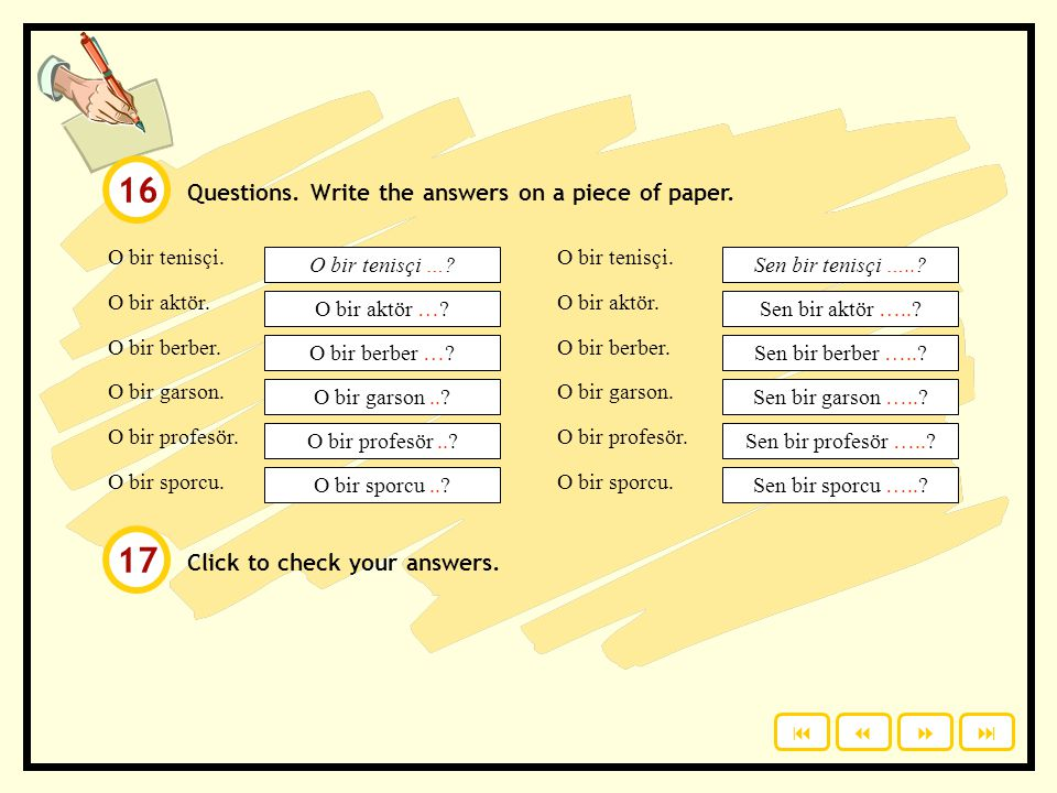 "Questions: ""mı / mi / mu / mü"" is the question word in Turkish. O bir doktor mu? O yapıyor mu? O yaptı mı? O yapacak mı? Personal suffixes are used wi"