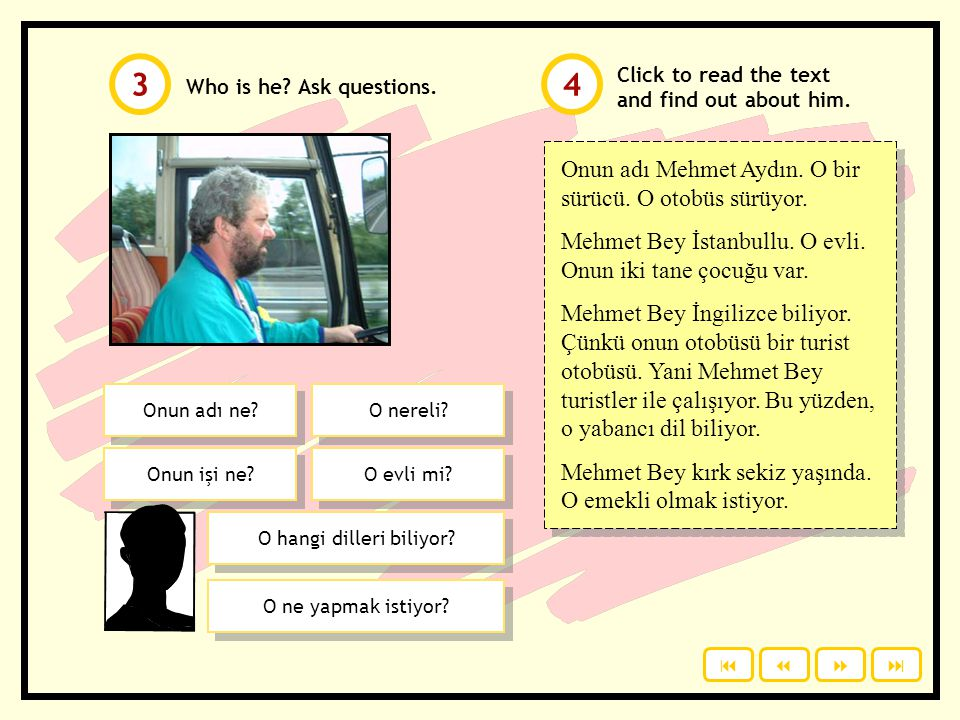Who is he.Ask questions. Click to read the text and find out about him.