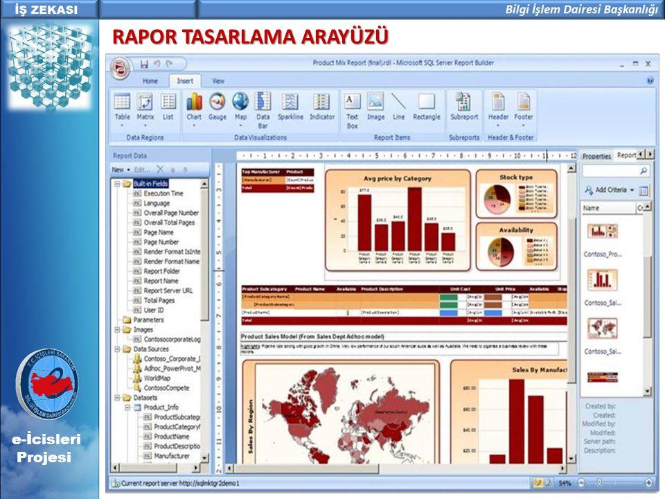 e-İcisleri Projesi RAPOR TASARLAMA ARAYÜZÜ