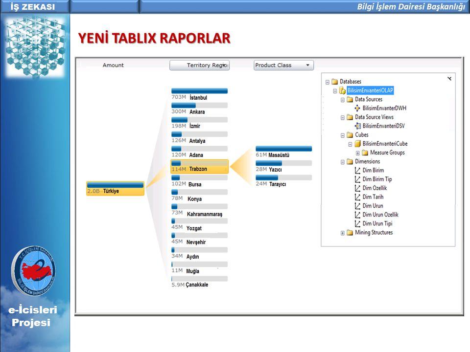 e-İcisleri Projesi YENİ TABLIX RAPORLAR